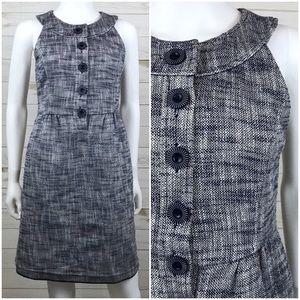 <Tibi> Tweed Mini Dress Sleeveless Career Shift